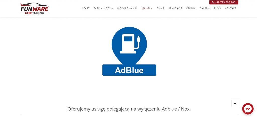 Oferujemy usługę polegającą na wyłączeniu Adblue Nox.